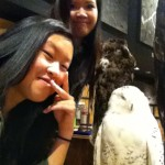 Posing with Hedwig